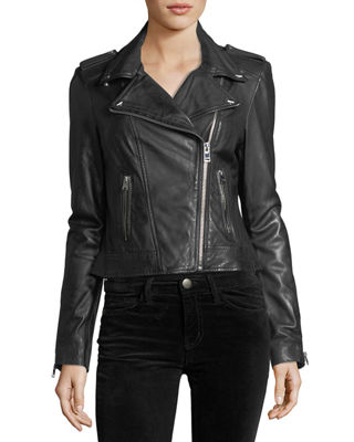 Image 3 of 3: Classic Leather Biker Jacket