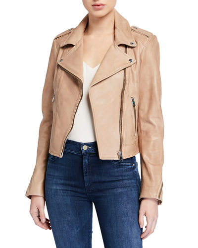 LaMarque Classic Leather Biker Jacket
