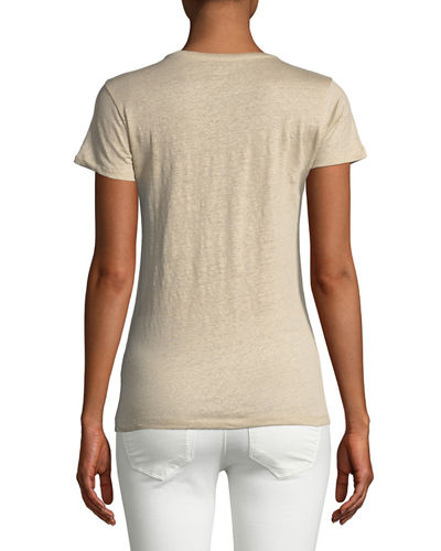 Linen Short-Sleeve Top
