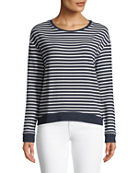 Majestic Paris for Neiman Marcus Striped French Terry