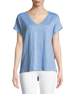 Linen Short-Sleeve T-Shirt