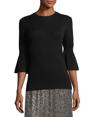 Cashmere-Blend Bell-Sleeve Sweater