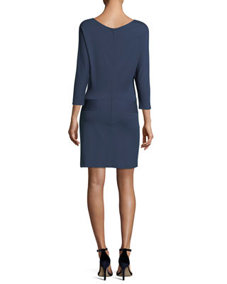 Image 2 of 2: 3/4-Sleeve Dress with Tie Detail