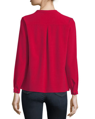 Image 2 of 4: Skaila Pleated-Front Blouse