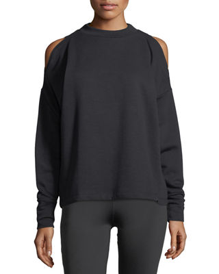 Carbon Cold-Shoulder Sweatshirt