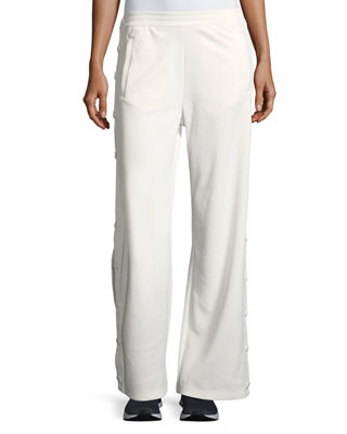 Tory Sport Banner Wide-Leg Tear-Away Track Pants