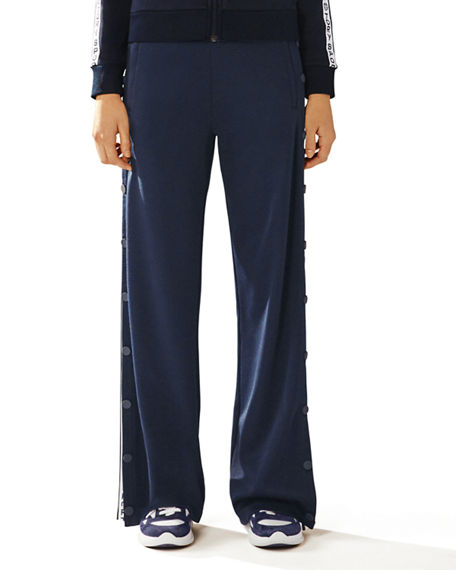 Tory Sport Pants BANNER WIDE-LEG TEAR-AWAY TRACK PANTS
