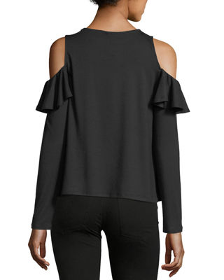Image 2 of 3: Cascade Cold-Shoulder Top