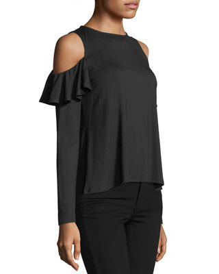Image 3 of 3: Cascade Cold-Shoulder Top