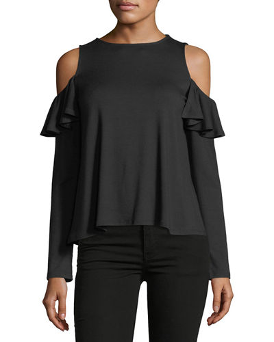 Rachel Pally Cascade Cold-Shoulder Top