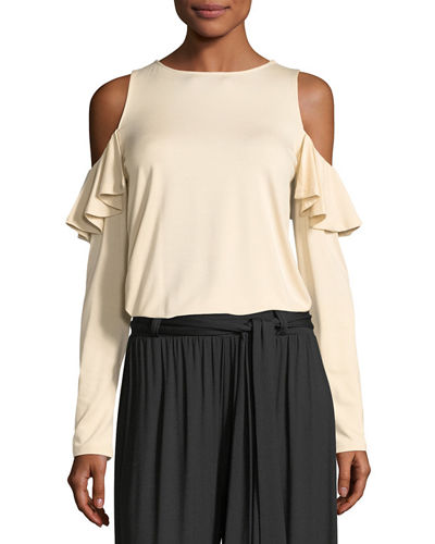 Cascade Cold-Shoulder Top, Plus Size