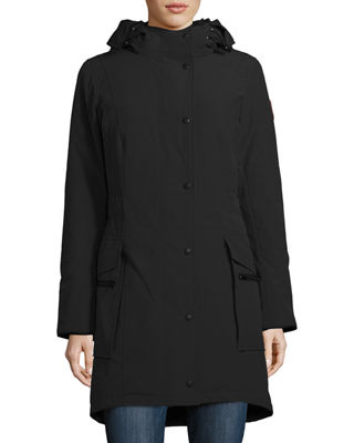 Image 1 of 4: Kinley Hooded Cinched-Waist Parka Coat