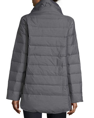 Melange Quilted Down Jacket