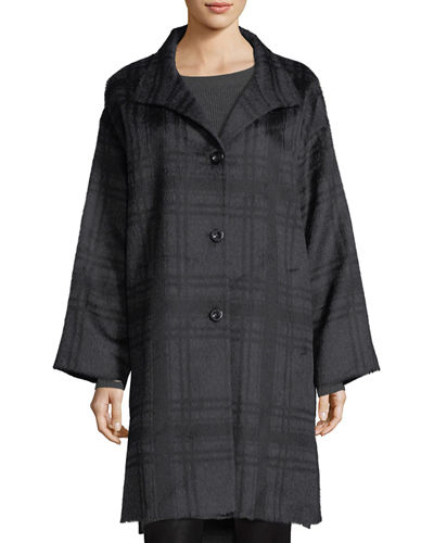 Luxe Alpaca/Wool Plaid Coat