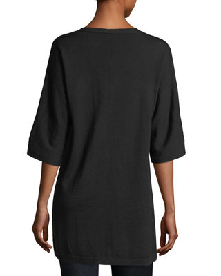 Image 2 of 2: V-Neck Merino Jersey Tunic