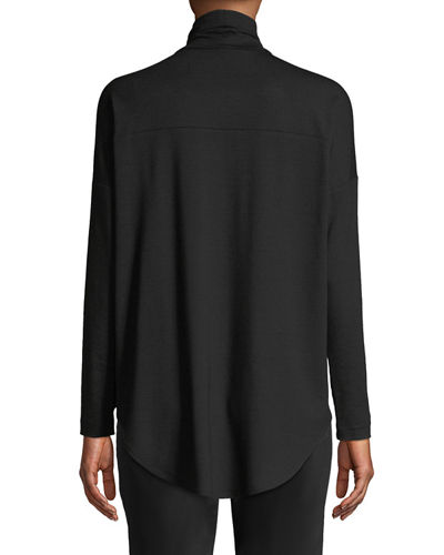 Viscose Jersey Turtleneck Tunic