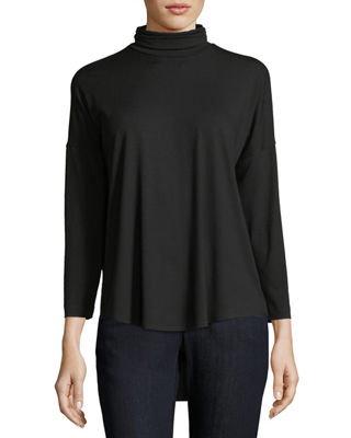 Eileen Fisher Viscose Jersey Turtleneck Tunic, Petite