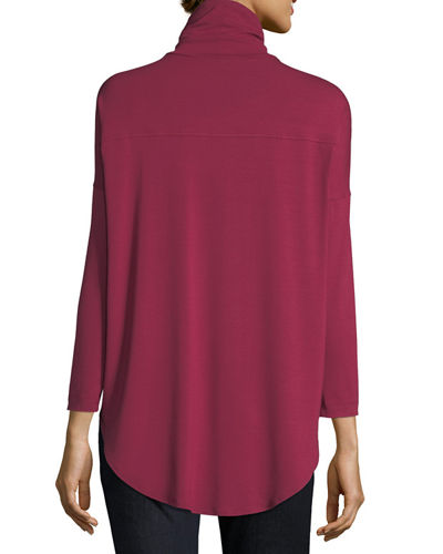 Viscose Jersey Turtleneck Tunic, Plus Size