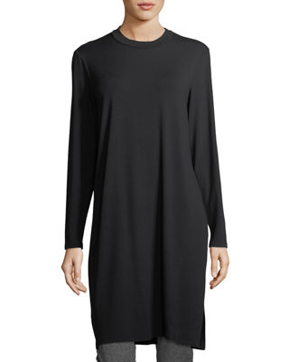 Eileen Fisher Long-Sleeve Knee-Length Jersey Tunic