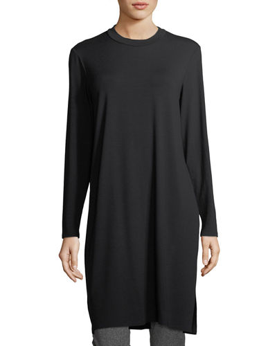 Long-Sleeve Knee-Length Jersey Tunic