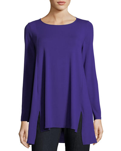 Eileen Fisher Round-Neck Jersey Tunic, Petite