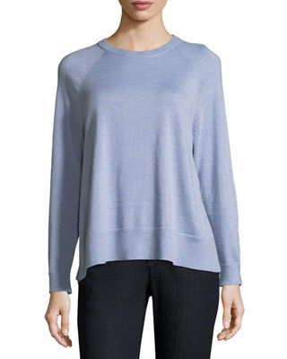 Eileen Fisher Merino Jersey High-Slit Top