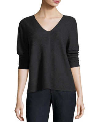 V-Neck Long-Sleeve Top, Petite