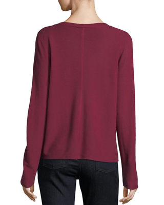 Image 2 of 2: V-Neck Long-Sleeve Top, Petite