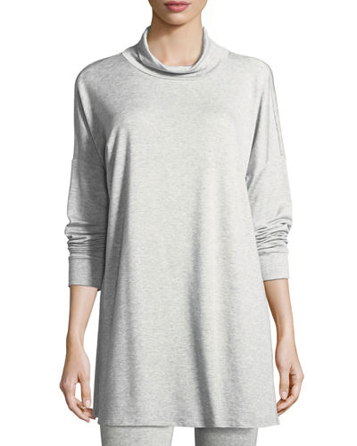 Eileen Fisher Funnel-Neck Tunic, Petite