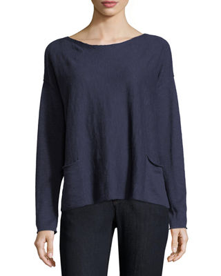 Eileen Fisher Organic Linen-Blend Box Top