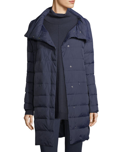 Eileen Fisher Weather-Resistant Down Puffer Cocoon Coat, Plus