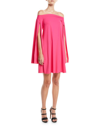 Chiara Boni La Petite Robe Mami Off-the-Shoulder Cape-Sleeve