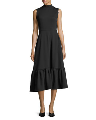 REJINA PYO Bridget Mock-Neck Sleeveless Midi Dress