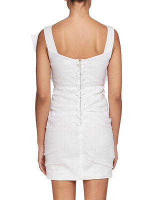 Image 2 of 2: Topaz V-Neck Sleeveless Ruched Short Dress