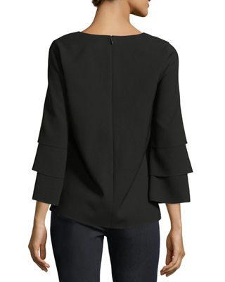 Image 2 of 2: Velez Finesse Crepe Blouse