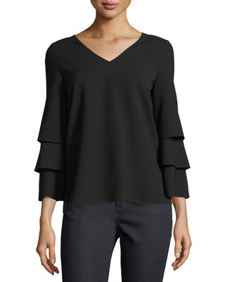 Image 1 of 2: Velez Finesse Crepe Blouse