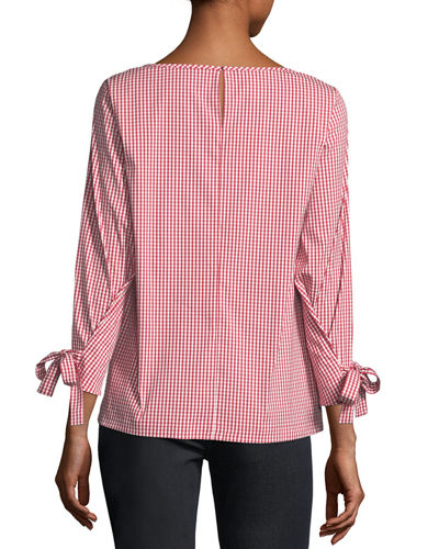 Paige Mini-Check Blouse