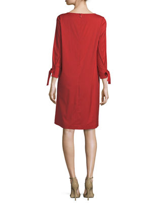 Image 2 of 2: Paige 3/4-Sleeve Jersey Dress