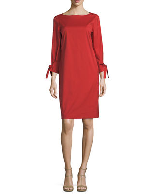 Image 1 of 2: Paige 3/4-Sleeve Jersey Dress