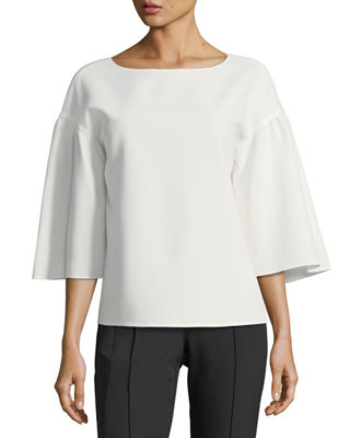 Image 1 of 2: Gwendolyn Finesse-Crepe Blouse