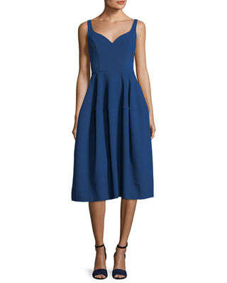 Jill Jill Stuart Sweetheart-Neck Sleeveless Stretch-Crepe Midi