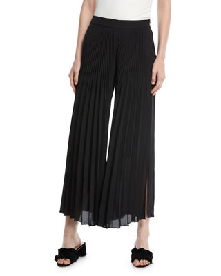 Kobi Halperin Eden Pleated Wide-Leg Pants and Matching