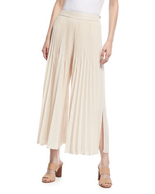 Image 1 of 3: Eden Pleated Wide-Leg Pants