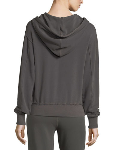 Raw-Edge Cotton Hoodie