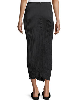 Image 2 of 2: Pleated Tie-Front Maxi Skirt