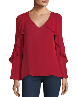 Ryann V-Neck Silk Blouse