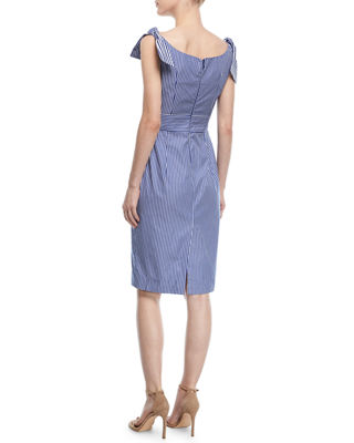 Image 2 of 3: Candice Striped Shirting Tie Dress