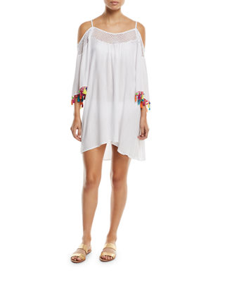 Nanette Lepore Cha Cha Cha Off-the-Shoulder Coverup Tunic