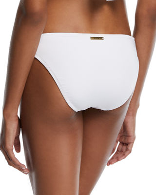 Image 2 of 4: Shirred-Sides Solid Swim Bottoms