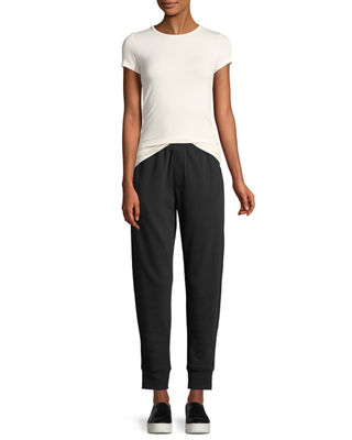 Image 3 of 3: Slim Cuffed Pull-On Terry Sweatpants